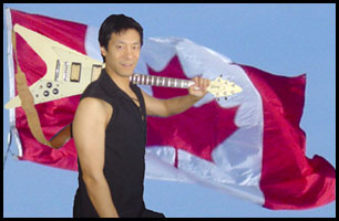 o canada national anthem canadian rock guitar clint cora asian chinese guitarist