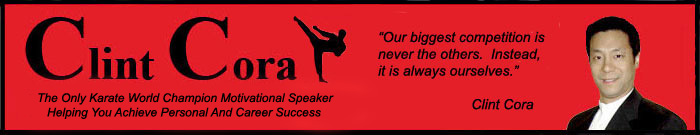 image clint cora motivational speaker press release author karate world champion
